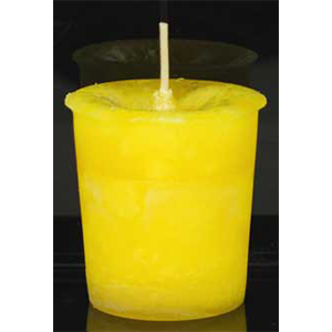 Positive Energy Reiki Charged Herbal votive - yellow - Wiccan Place