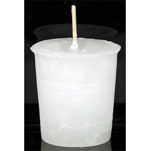 Spirit Herbal votive - white - Wiccan Place
