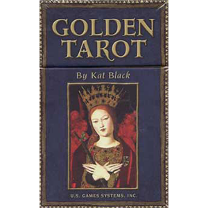 Golden Tarot deck and book by Kat Black - Wiccan Place