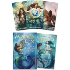Mermaid tarot deck & book by Leeza Robertson - Wiccan Place