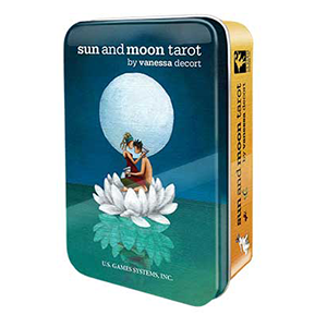 Sun and Moon tarot deck in a tin by Vanessa Decort - Wiccan Place