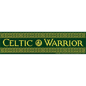 Celtic Warrior bumper sticker - Wiccan Place