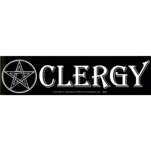 Clergy (with Pentacle) bumper sticker