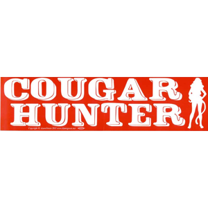 Cougar Hunter bumper sticker