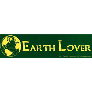 Earth Lover bumper sticker