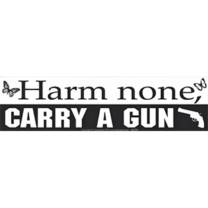Harm None, Carry a Gun Bumper Sticker - Wiccan Place