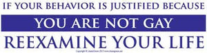 If Behavior is Justified Bumper Sticker - Wiccan Place