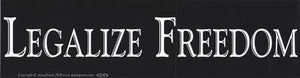 Legalize Freedom Bumper Sticker - Wiccan Place