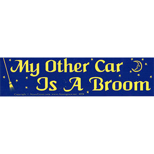 My Other Car Is A Broom Bumper Sticker - Wiccan Place
