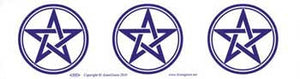 Pentagram 3 Bumper Sticker - Wiccan Place