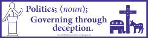 Politics Governing Bumper Sticker - Wiccan Place