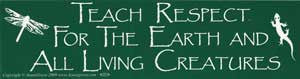 Teach Respect Bumper Sticker