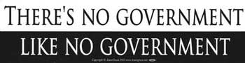 There's No Government Bumper Sticker
