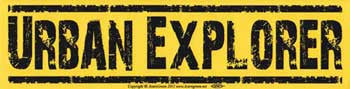 Urban Explorer Bumper Sticker