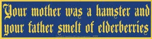 Your Mother Was a Hamster Bumper Sticker - Wiccan Place