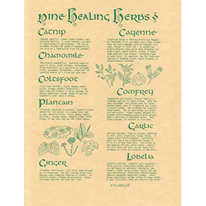9 Herbs poster - Wiccan Place