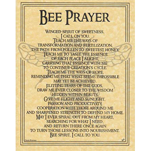 Bee Prayer poster - Wiccan Place
