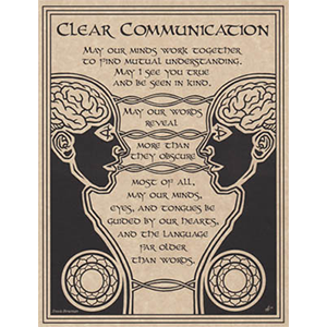 Prayer for Clear Communication poster - Wiccan Place