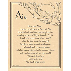 Air Evocation poster - Wiccan Place