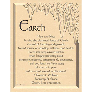 Earth Evocation poster - Wiccan Place