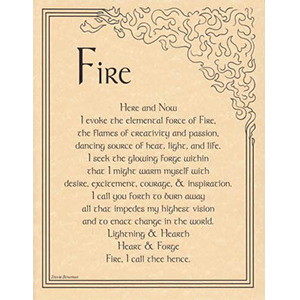 Fire Evocation poster - Wiccan Place