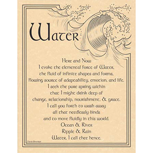 Water Evocation poster - Wiccan Place