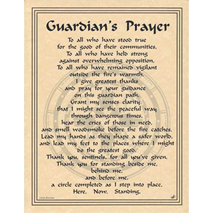 Guardian's Prayer poster - Wiccan Place