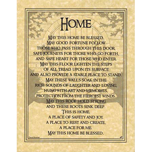 Home Blessing poster - Wiccan Place