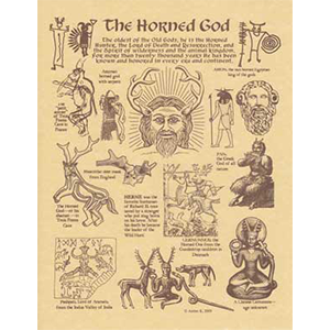 Horned God Parchment Poster - Wiccan Place