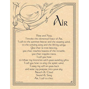 Air Invocation poster - Wiccan Place
