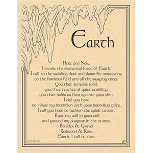 Earth Invocation poster - Wiccan Place