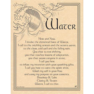 Water Invocation poster - Wiccan Place