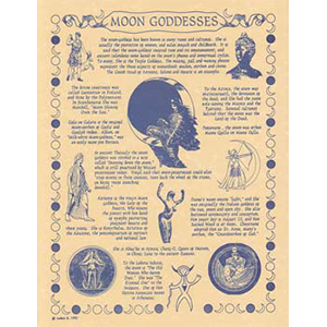 Moon Goddess poster - Wiccan Place
