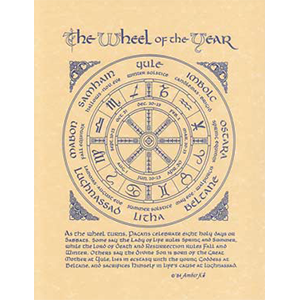 Pagan Year poster - Wiccan Place