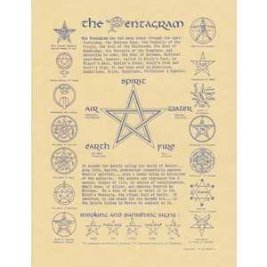 Pentagram poster - Wiccan Place