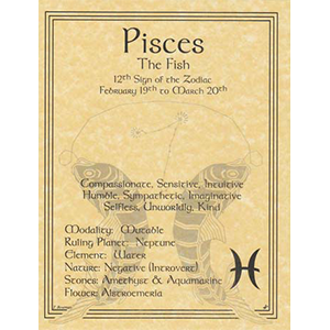 Pisces Zodiac Sign (Sun in Pisces) poster