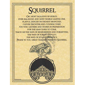 Squirrel Prayer poster - Wiccan Place