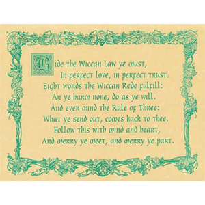 Wiccan Rede (law) poster - Wiccan Place