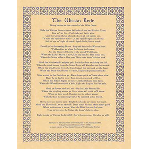 Wiccan Rede (long poem) poster - Wiccan Place