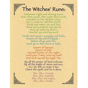 Witches' Rune poster - Wiccan Place