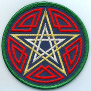 Celtic Pentagram patch 3
