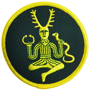 "Cernunnos sew-on patch 3"" - Wiccan Place"