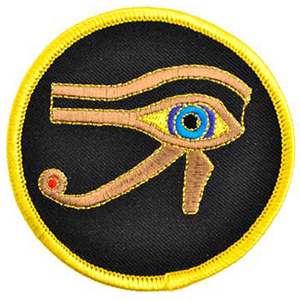 "Eye of Horus sew-on patch 3"" - Wiccan Place"