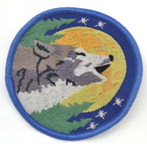 "Wolf sew-on patch 3"" - Wiccan Place"