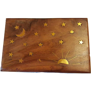 Stars & Moon Brass Inlay Box 4