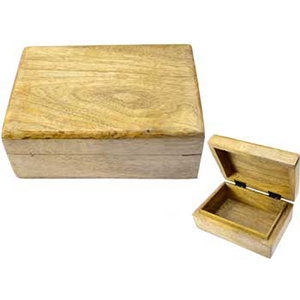 "Natural wood box 4"" x 6"" - Wiccan Place"