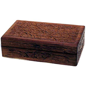 "Handcrafted box w Floral Design 5"" x 8"" - Wiccan Place"