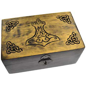 Handcrafted box w Thor's Hammer 5