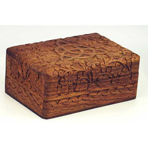 Triquetra Wooden Carved Box - Wiccan Place