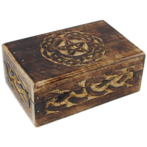 "Celtic Circle Pentagram Box 4""x6"" - Wiccan Place"